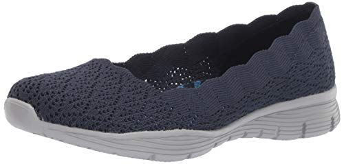 Skechers Seager-Infield-Scalloped punto mujer, Azul