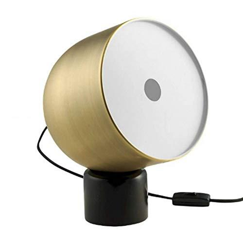 FARO-Lampe à poser Marbre/Métal H32cm marbre noir abat-jour laiton antique doré Bolia - designé par La Selva Studio