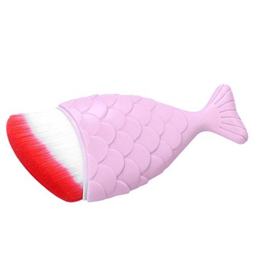 Pinceaux Maquillage, SHOBDW Fishtail Bottom Fish Scale Brosse de Maquillage / Brush Cosmétique Beauté & Make-up (Rose D)