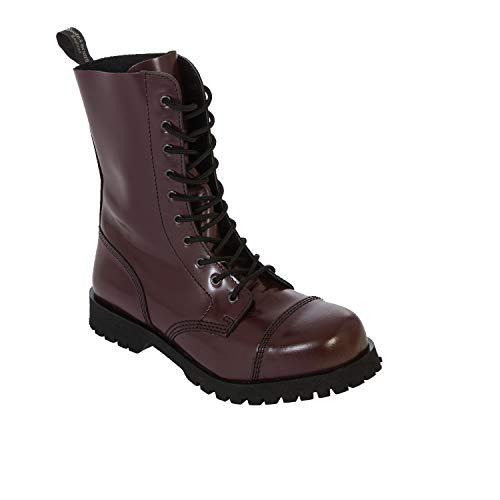 Boots & Braces Bottes rangers avec lacets 10 trous Cherry Rouge - Rouge - cerise,