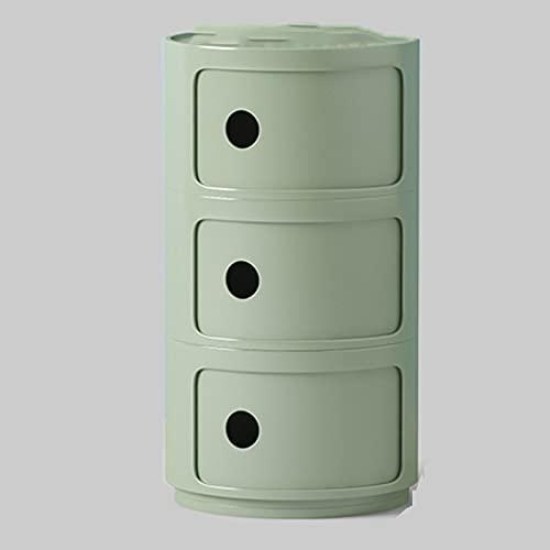 Household items Comodino Rotondo con cassetti, armadietto divisorio per mobili da Comodino, Adatto...