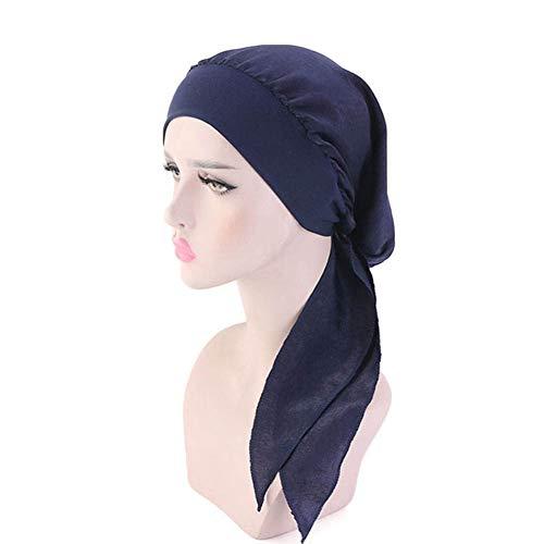 Casue Dames Vintage Silky Turbans Bonnet elastische brede sjaal pre-tid headwear satijn turban bandana voor kreeft hoofdwraps