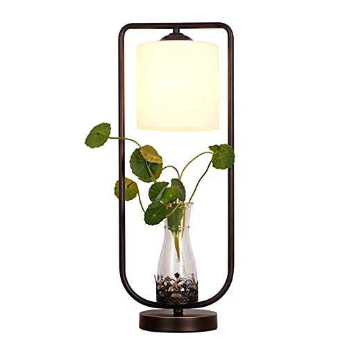DINGYGJ Lámpara de Mesa Decorativa Americana, lámpara de Mesa hidropónica - lámpara de Mesa con Pantalla de Cristal Blanca, Sala de Estar de Estudio Creativo, E27