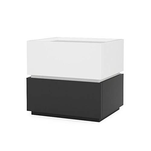 CML Home Nachttisch for Haupt Schlafzimmer, Nordic Moderne Minimalist Kreative Nachttisch aus Holz freier Kombination Kabinett Schlafzimmer Lagerschrank Eckschrank, 2 Farben wahlweise freigestellt