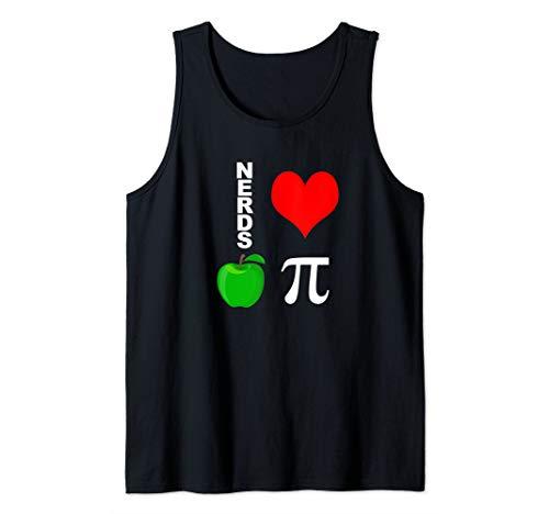 Nerds Love Apple Pi Funny Math Pun Pi Teacher Tank Top