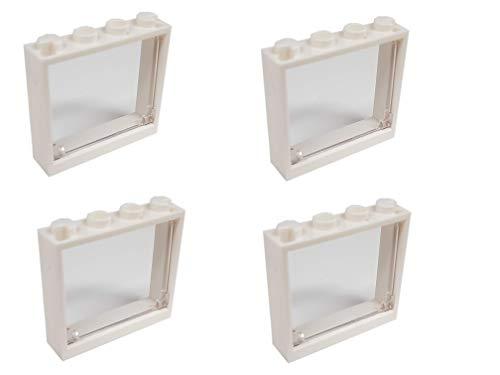 LEGO City - 4 Fenster mit Transparenten Scheiben zum Kippen