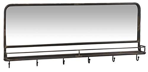 Ib Laursen zwart kapstok met spiegel & 6 haken