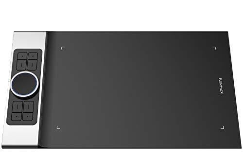 XP-PEN Deco Pro Small - Tableta gráfica (13 x 7 Pulgadas, 8 Combinaciones de Teclas, Rueda Doble 8192 Niveles de presión, Compatible con Windows, Mac y Android, para videoconferencias en casa)