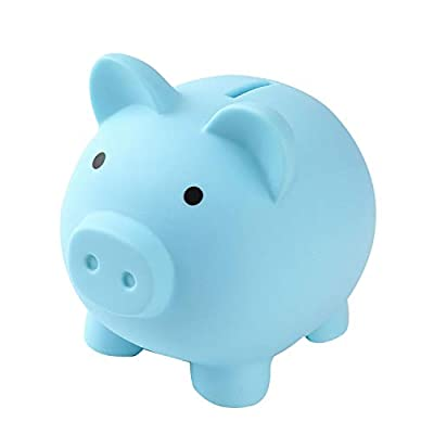 Amazon - 65% Off on  Piggy Bank for Kids, Unbreakable Plastic Piggy Bank for Girls Boys Kids Adults