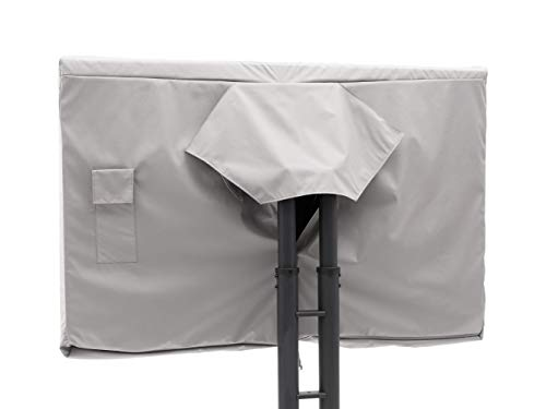 Covermates Outdoor Full TV Cover – Durable Polyester, Weather Resistant, Remote Pocket, TV Covers-Grey