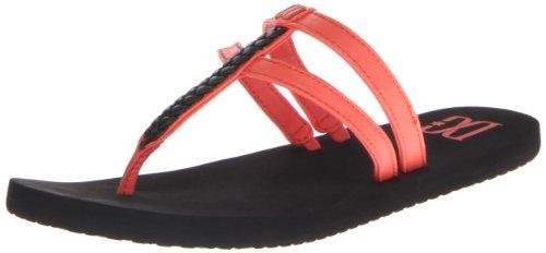 DC Shoes D0303361, Damen Dusch- & Badeschuhe, schwarz/Hot Coral - Größe: 7 UK