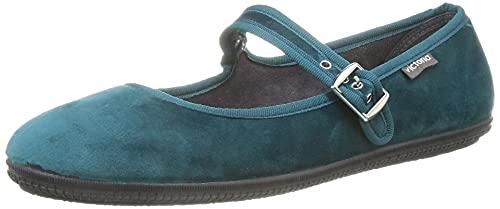 Victoria ODA Terciopelo, Zapatos Mujer, Azul Rey, 39 EU