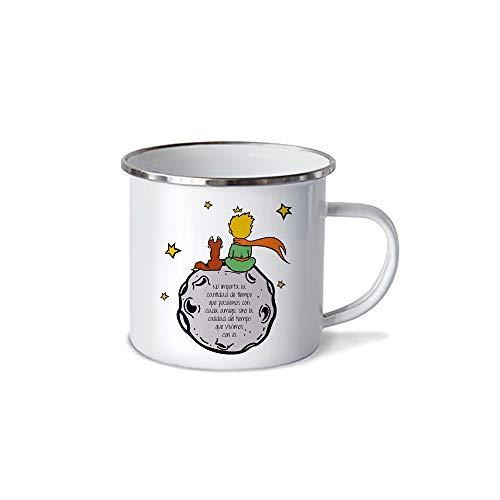 Rapoza Collective - Pocillo/Taza de Peltre EL PRINCIPITO Y EL ZORRO 10oz (300ml), Pewter Cup LITTLE PRINCE AND FOX, No se despinta, Perfecta para la Oficina o Regalo