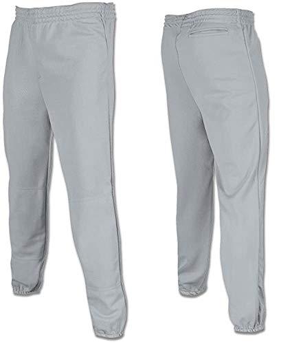 Joe's USA - Youth Baseball Softball Pull Up Pants T-Ball-Grey-XXS