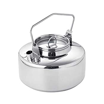 Fire Maple Antarcti Stainless Steel Kettle   1 Liter Camp Kettle   Great for Boiling Water Tea Coffee Freeze-dried Backpacking Meals   Portable for Camping and Travel   Open Campfire Coffee Pot