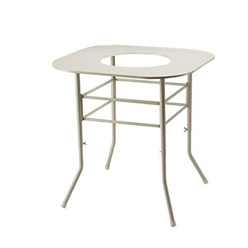 グリーンライフ (GREEN LIFE) 対流型ストーブ用テーブル 幅65×奥行65×高さ71cm 高さを自由に設定可能 TST-65 ホワイト 2か月~