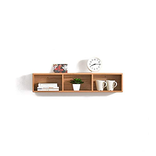 MASP Floating Shelves Wall Shelf,CD DVD Media Storage Rack 3 Cubes Wooden Shelf Organizer Unit Bookcase Display, Display Shelf | Decorative Office (Color : Wood Color)