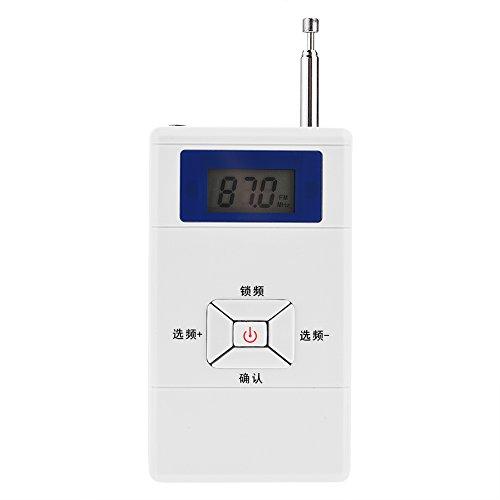 Ccylez Transmisor, Mini transmisor FM inalámbrico portátil, Adaptador convertidor de Audio estéreo FM, Transmisor inalámbrico, para el hogar automóvil aulas auditorios dormitorios plazas