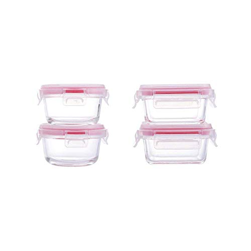 Glas Voedsel Opslag Containers Luchtdicht Case Portable Mini 4 - Pack Snack Box Magnetron Oven Beschikbaar fresh box