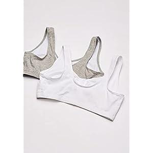 Fruit of the Loom Women's Plus-Size Sport Bra, Heather Grey/White, Size 38