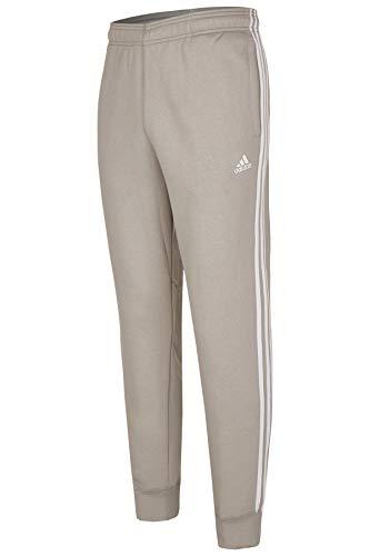 adidas Jogginghose, Herren, Trainingshose, Männer, 3 Streifen (Hellgrau-Weiss, S)