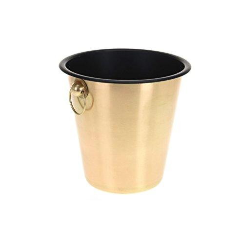 Stahl Wein Champagner Flaschenkühler Kühlschrank Ice Bucket gold