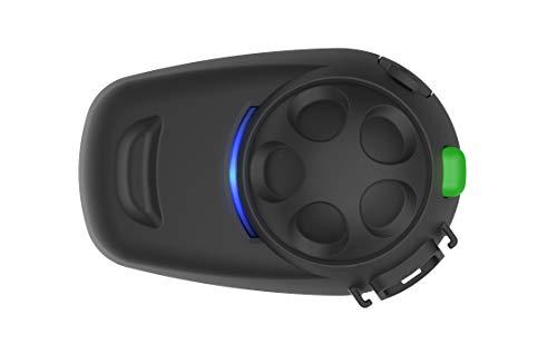 SMH5 Multicom SMH5-FM Bluetooth-Kommunikationssystem mit integriertem FM Tuner für Motorräder und Roller mit Schnellmontage-Helmklemmeinheit