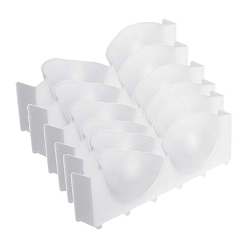 Buyshop 6Pcs Set Underwear Boxes Stable Stackable Bra Clothes Storage Rack Wardrobe Drawer Divider Finishing Combination Bra Organizer