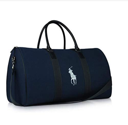 Polo Ralph Lauren Men's Blue and White Duffle Bag