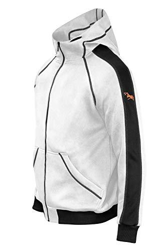 strongAnt Hoodie mit Reißverschluss für Herren und Damen warme Fleece Jacke mit Kapuze-Naht Schwarz Gr. L
