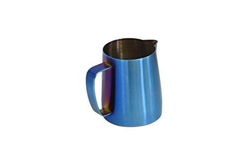 Latte Art | Brocca per latte in acciaio inox di alta qualità (azzurro, 20 oz)