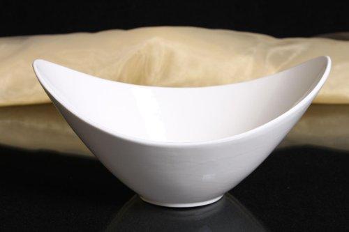 Schale oval Porzellan weiss Schälchen Obstschale Dekorschale