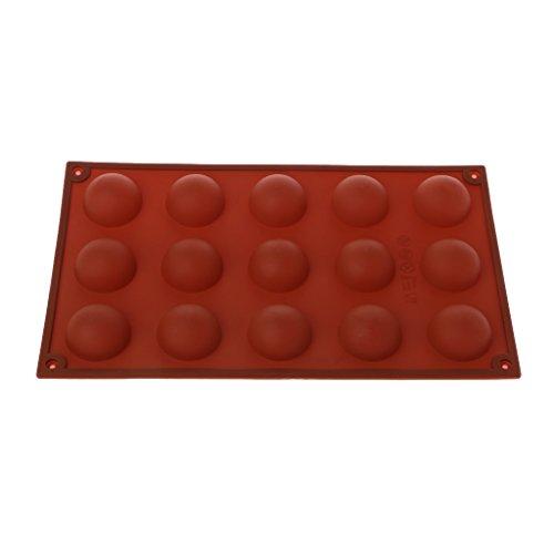 Yintiod 15 holle ruimtes grote hemelsfeer chocolade siliconen bakvorm cake dome mould mat