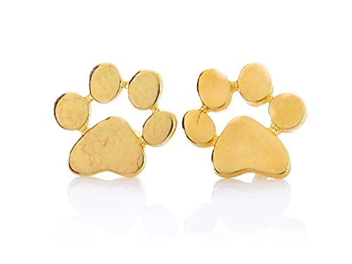 Pendientes de huellas de oro