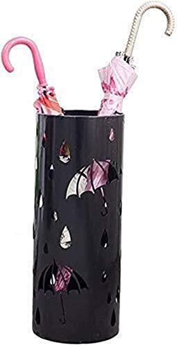 ZHPBHD Paragüeros Paraguas parajen Paraguas largas y Cortas para Soporte de Varilla, Soporte de Metal para casa/de Interior/Exterior/Pasillo/Coche/Pasillo Paraguas (Size : Black)