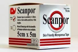 Scanpor mikroporöses chirurgisches Klebeband, 5 cm x 5 m, 2 Rollen