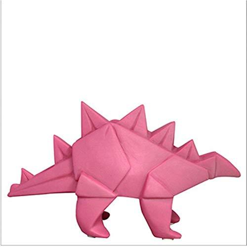 Mini veilleuse lampe dinosaure stégosaure origami rose pour chambre d'enfants - House of Disaster - LEDDINPK