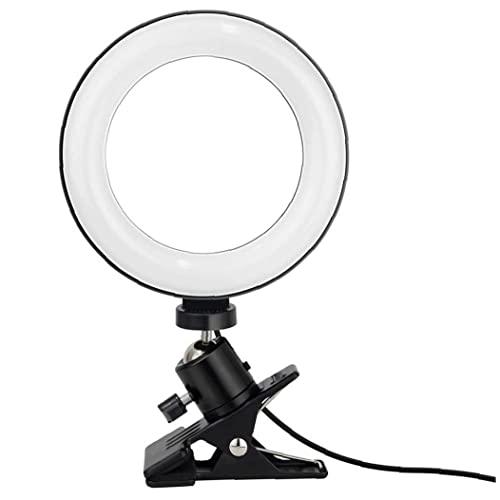"Ring Licht & Video Conferentie Verlichting 360 Graden Draaibaar 6 ""Selfie LED Ring Lamp met Klem Mount/By Odoukey"