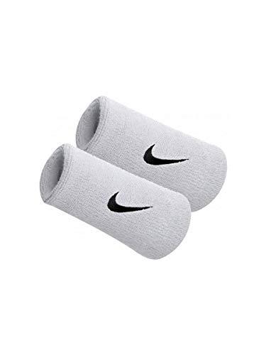 Nike POLSINI ALTI SWOOSH WRISTBANDS DOUBLEWIDE Bianco, Taglia unica