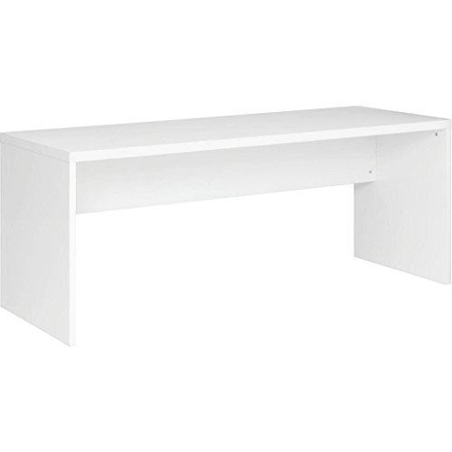 scrivania curvata colore bianco lucido Movian