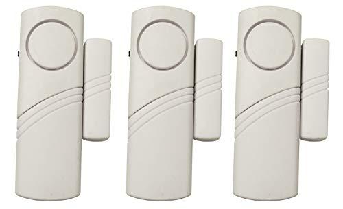 Electraline 58401 - Alarma perimetral inalámbrica con sensor para puertas y ventanas (3 unidades)