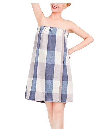 Kristallly Dames Katoen Spa Sauna Handdoek Kilt Pyjama Thuis Reizen Mode Eenvoudige Stijl Comfortabele pyjama