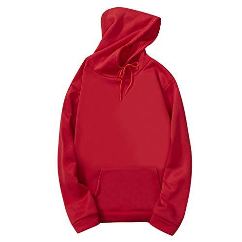 ZOELOVE-Sudadera con Capucha para Mujer Tumblr Color sólido Pullover Sudaderas Hoodie Camisa Flojo Sweatshirt Deportes Tops Jersey de Bolsillo