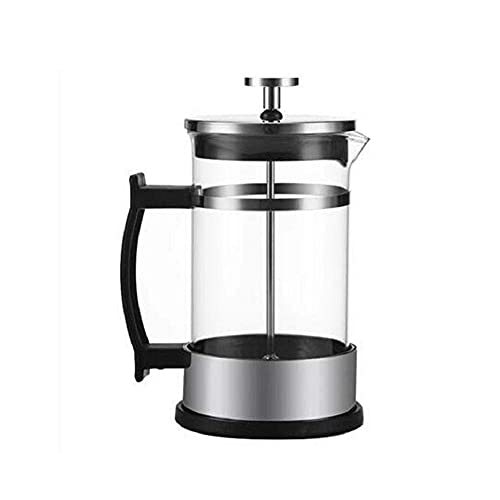 ZHBH Mocha Pot Portable Cafetiere French Press Coffee Maker, Borosilicate Glass Coffee Press Pot, Heat Resistant Tea Cafetiere Kettle Filter Coffee Maker Pot for Home Office (600ml)