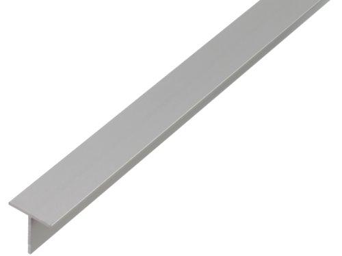 GAH-Alberts 471866 T-Profil aus Aluminium, 1000 x 35 x 35 mm, silberfarbig eloxiert