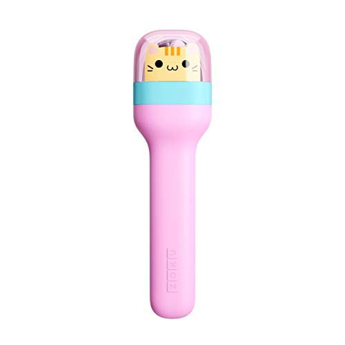 Zoku Kids Pocket Utensil Set, Kitty | Stainless Steel Fork, Knife, and Spoon in Case | Portable Design for Travel, School, Picnics, Camping and Outdoor Home Use