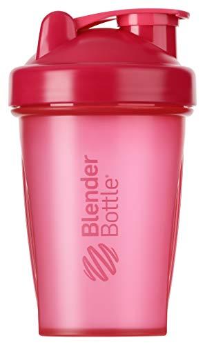 BlenderBottle Classic Shaker mit BlenderBall, optimal geeignet als Eiweiß Shaker, Protein Shaker, Wasserflasche, Trinkflasche, BPA frei, skaliert bis 400 ml, Fassungsvermögen 590 ml, pink transparent