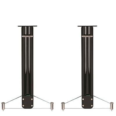Q Acoustics Concept Speaker Stands (Pair) (Gloss Black) by Q Acoustics