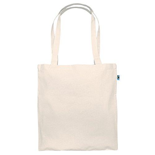 Textildruck Plauen Tasche aus Fairtrade Baumwolle - 38 x 42cm Baumwollbeutel Baumwolltasche in versch. Farben (Natural, 5)