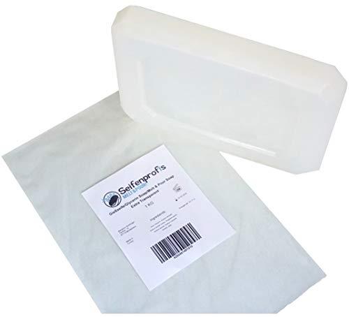 Jabón base de glicerina, transparente (libre de SLS) (1kg transparente)